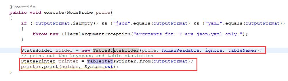 《[源码阅读]Cassandra Nodetool 是如何输出json格式的?》